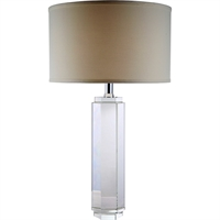"Picture for category Table Lamps 1 Light Fixtures With Chrome Tones In Finished E26 Bulb Type 29"" 40 Watts"