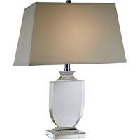 "Picture for category Table Lamps 1 Light Fixtures With Chrome Tones In Finished E26 Bulb Type 11"" 40 Watts"