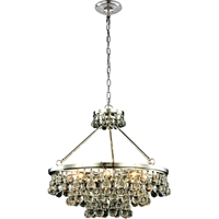 "Picture for category Pendants 8 Light Fixtures With Polished Nickel Tones In Finished E12 Bulb Type 24"" 320 Watts"