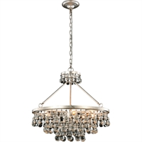 "Picture for category Pendants 8 Light Fixtures With Silver Leaf Tones In Finished E12 Bulb Type 24"" 320 Watts"