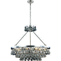 "Picture for category Pendants 10 Light Fixtures With Polished Nickel Tones In Finished E12 Bulb Type 30"" 400 Watts"