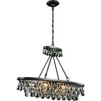 "Picture for category Pendants 4 Light Fixtures With Bronze Tones In Finished E12 Bulb Type 10"" 160 Watts"