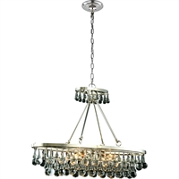 "Picture for category Pendants 4 Light Fixtures With Polished Nickel Tones In Finished E12 Bulb Type 10"" 160 Watts"