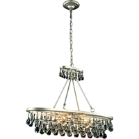 "Picture for category Pendants 4 Light Fixtures With Silver Leaf Tones In Finished E12 Bulb Type 10"" 160 Watts"
