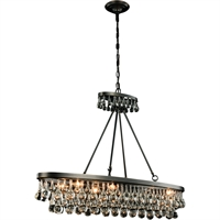 "Picture for category Pendants 8 Light Fixtures With Bronze Tones In Finished E12 Bulb Type 13"" 320 Watts"