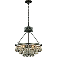 "Picture for category Pendants 6 Light Fixtures With Bronze Tones In Finished E12 Bulb Type 22"" 240 Watts"
