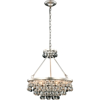 "Picture for category Pendants 6 Light Fixtures With Silver Leaf Tones In Finished E12 Bulb Type 22"" 240 Watts"