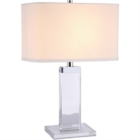 "Picture for category Table Lamps 1 Light Fixtures With Chrome Tones In Finished E26 Bulb Type 8"" 40 Watts"