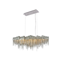 "Picture for category Pendants 7 Light Fixtures With Chrome Tones In Finished G9 Bulb Type 10"" 280 Watts"