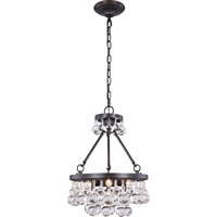 "Picture for category Pendants 3 Light Fixtures With Bronze Tones In Finished E12 Bulb Type 19"" 120 Watts"