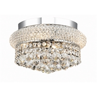 "Picture for category Flush Mounts 4 Light Fixtures With Chrome Tones In Finished E12 Bulb Type 12"" 160 Watts"