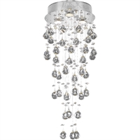 "Picture for category Flush Mounts 3 Light Fixtures With Chrome Tones In Finished GU10 Bulb Type 12"" 150 Watts"