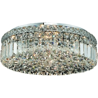 "Picture for category Flush Mounts 6 Light Fixtures With Chrome Tones In Finished E12 Bulb Type 20"" 360 Watts"