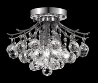 "Picture for category Flush Mounts 3 Light Fixtures With Chrome Tones In Finished E12 Bulb Type 12"" 180 Watts"