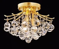 "Picture for category Flush Mounts 3 Light Fixtures With Gold Tones In Finished E12 Bulb Type 12"" 180 Watts"
