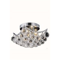 "Picture for category Flush Mounts 4 Light Fixtures With Chrome Tones In Finished E12 Bulb Type 10"" 240 Watts"