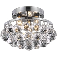 "Picture for category Flush Mounts 3 Light Fixtures With Chrome Tones In Finished E12 Bulb Type 10"" 180 Watts"