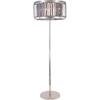 "Picture for category Floor Lamps 6 Light Fixtures With Polished Nickel Tone Finish Steel Material E12 Bulb Type 25"" 360 Watts"