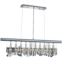 "Picture for category Mini Chandeliers 10 Light Fixtures With Chrome Tones In Finished E12 Bulb Type 40"" 600 Watts"
