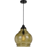 Picture for category Cal Lighting FX-3671-1 Pendants Amber Glass Glass Roigo