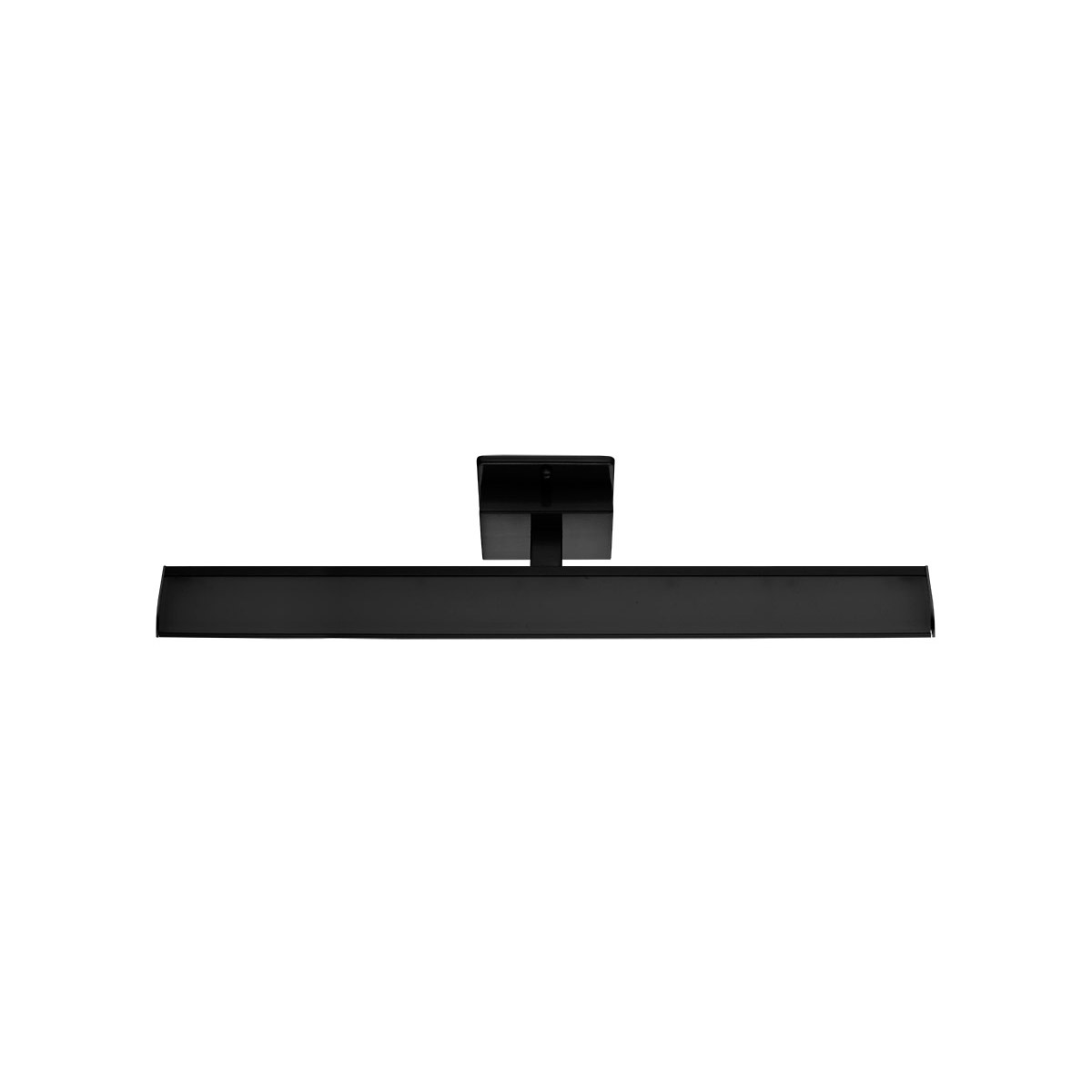 Bathroom Vanity 1 Light Fixture With Matte Black Finish Steel And Plastic Led 4 9 6 Watts