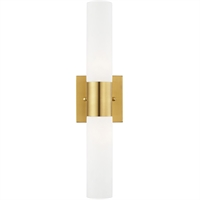 Picture for category Livex Lighting 10102-12 Bath Lighting 18in Satin Brass Steel 2-light