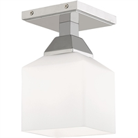 Picture for category Livex Lighting 10280-05 Flush Mounts 5in Polished Chrome Steel 1-light