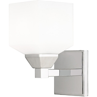 Picture for category Livex Lighting 10281-05 Wall Sconces 5in Polished Chrome Steel 1-light