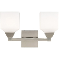 Picture for category Livex Lighting 10282-91 Bath Lighting 15in Brushed Nickel Steel 2-light