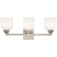 Picture for category Livex Lighting 10283-91 Bath Lighting 23in Brushed Nickel Steel 3-light