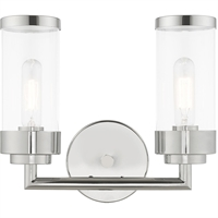 Picture for category Livex Lighting 10362-05 Bath Lighting 13in Polished Chrome Steel 2-light