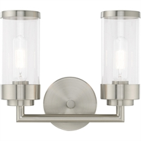 Picture for category Livex Lighting 10362-91 Bath Lighting 13in Brushed Nickel Steel 2-light
