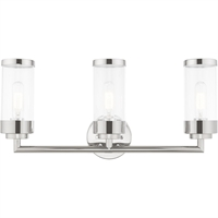 Picture for category Livex Lighting 10363-05 Bath Lighting 24in Polished Chrome Steel 3-light