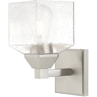Picture for category Livex Lighting 10381-91 Wall Sconces 5in Brushed Nickel Steel 1-light