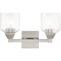 Picture for category Livex Lighting 10382-91 Bath Lighting 15in Brushed Nickel Steel 2-light