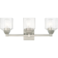 Picture for category Livex Lighting 10383-91 Bath Lighting 23in Brushed Nickel Steel 3-light