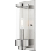 Picture for category Livex Lighting 20721-91 Wall Sconces 5in Brushed Nickel Stainless Steel 1-light