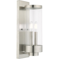 Picture for category Livex Lighting 20722-91 Wall Sconces 5in Brushed Nickel Stainless Steel 2-light