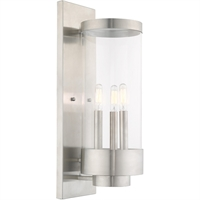 Picture for category Livex Lighting 20724-91 Wall Sconces 7in Brushed Nickel Stainless Steel 3-light