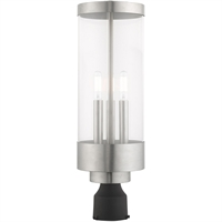 Picture for category Livex Lighting 20728-91 Outdoor Post Light Brushed Nickel Stainless Steel