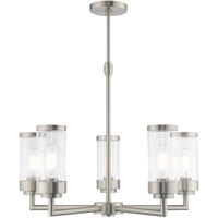 Picture for category Livex Lighting 40475-91 Chandeliers Brushed Nickel Steel 5-light