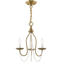 Picture for category Livex Lighting 40793-01 Mini Chandeliers Antique Brass Steel 3-light