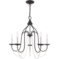 Picture for category Livex Lighting 40795-04 Chandeliers Black Steel 5-light