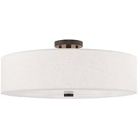 "Picture for category Flush Mounts 5 Light Fixtures With English Bronze Finish Steel Material Medium 9"" 300 Watts"