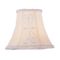 "Picture for category Hand Embroidered Tone Finish Lighting Glass Shades Menkar 5"" Long Light Fixture"
