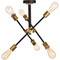 Picture for category Living District LD8003D17BK Semi Flush Black and Brass Metal Axel