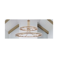 Picture for category Crystorama Lighting CLO-8890-AG Chandeliers Aged Brass Glass Steel Cloer