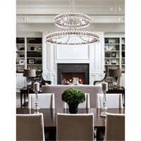 Picture for category Crystorama Lighting CLO-8890-BN Chandeliers Brushed Nickel Glass Steel Cloer