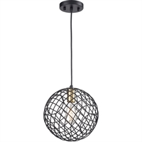 Picture for category Elk Lighting 15293/1 Pendants Matte Black and Satin Brass Metal Yardley
