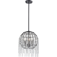 Picture for category Elk Lighting 15304/3 Pendants Oil Rubbed Bronze Metal/Crystal Yardley